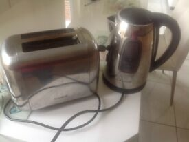 Toaster and kettle set