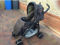 Mammas and Pappas brown pushchair/ pram and car seat