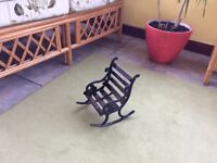 Garden orniment small rocking chair