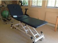 Electric therapy treatment couch, excellent condition, suitable Physio, Osteo, Beauty, massage.
