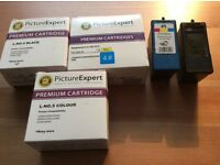 Lexmark printer inks 4 (black), 4# (black high capacity) and 5 (colour)