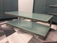 Glass and metal TV stand or coffee table