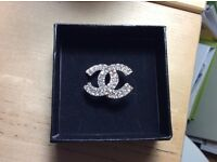 Chanel costume crystal brooch