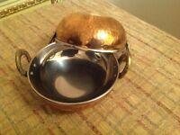 Handmade copper Balti dishes