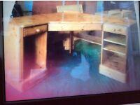 Pine Corner Desk very good condition 49in X 49in