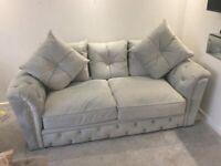 Chesterfield velvet sofas