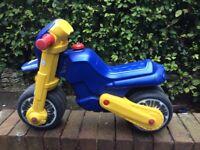 Children's plastic push bike