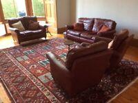 Quality leather sofas/suite for sale, Merchiston