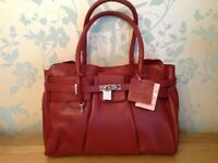 Red Leather Bag BNWT