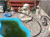 LARGE DRAGON STATUE / WATER FEATURE GARDEN ORNAMENTS /POND WATER FEATURE
