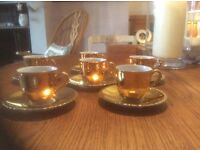 Winterling Bavaria gold coloured coffee cups