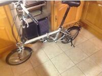 Folding 3 speed bike suit any size rider 3 speed