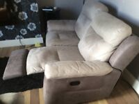 Sofa two and three seater recliner chairs