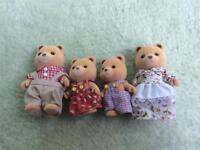 Sylvanian family of bears