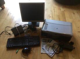 HP printer, monitor and keybaord