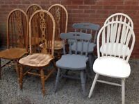 GARAGE CLEARANCE JOBLOT Wooden chairs to clear -can deliver