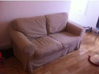 IKEA 2 SEATER EKTORP SOFA - Beige covers - collect by Saturday 23 July