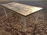 Refurbished 7ft Farmhouse Rustic Solid Pine Table ... Possible Delivery Available