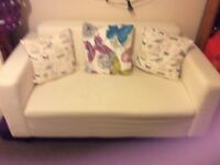 Ikea cream two seater settee for sale