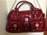 Designer, multi pocketed, LONDON FOG handbag