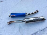 2 motorbike exhausts