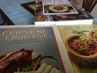2 Chinese and 1 hot and spicy cookbooks, hardback