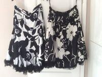2 Black/White Skirts Size 16