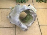 Large Piece of Flint with Hole Garden Pond Feature