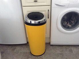 Yellow 50ltr Bin. Press Lid bin