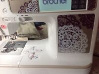 Brother sewing and embroidery machine, 129 stitches + over 200 embroidery patterns. Good condition