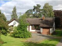 Lovely 4 bedroom detached bungalow to let rural perthshire