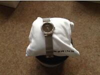 Bering Classic Watch - adjustable strap to fit any size - unused