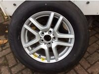 BMW alloy wheel and tyre never been used.