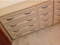 CHEST OF DRAWERS, 4 LARGE & 4 SMALL LOVELY CONDITION