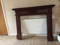 Mantelpiece with marble hearth and back