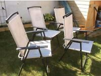 4 Metal frame chairs