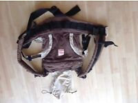 Brown Manduca- easy to use, ergonomic back front and side baby carrier
