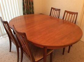GPlan Retro Teak Dining Table & 4 Chairs