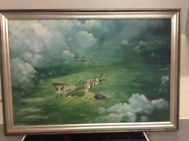 Painting of a spitfire aeroplane
