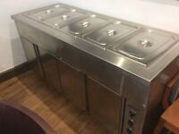 Al-Halabi Bain-Marie w. bottom heated cabinet (70 series) +5 containers, SW16. Norbury-Top condition