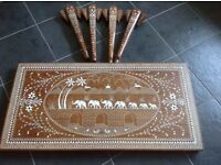 Two Indian coffee tables