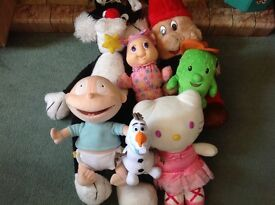 Job lot of stuffed, cuddly toys, washed- vintage and contemporary