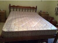 Double bed frame and mattress or bed frame vgc £120 or Ono