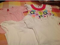 Selection off baby girls tops, t shirts,