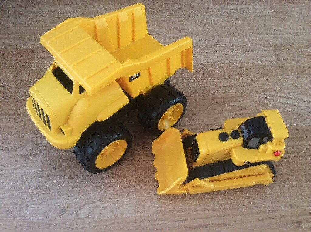 Push along Cat dumper truck and digger