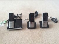 Siemens gigs set wireless telephone. 3 Handsets and answer phone