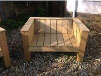 Solid Wooden Garden Seat / Bench