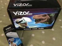 Vizor 3D virtual reality headset and controller