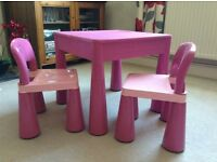 Amazing Pink Childrens Multi Purpose Table and Chair Set