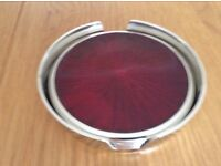 Lovely Jewelled Coloured Coaster Set NEW *Mother's Day Gift*